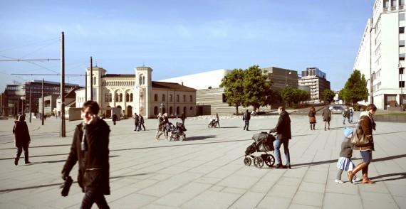 Oversiktsbilde Vestbanen. © MIR AS, Kleihues + Schuwerk Gesellschaft von Architekten mbH, Statsbygg.