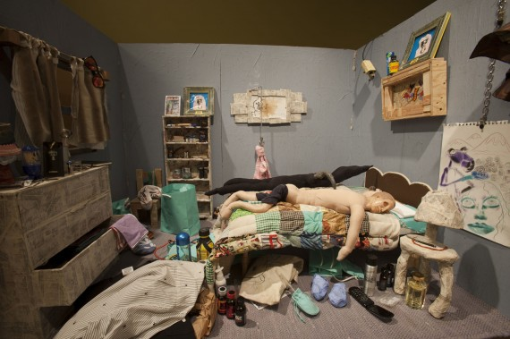 Bjarne Melgaard, A New Novel, installation view at Luxembourg & Dayan. Photo: Adam Reich. Courtesy of Luxembourg & Dayan.