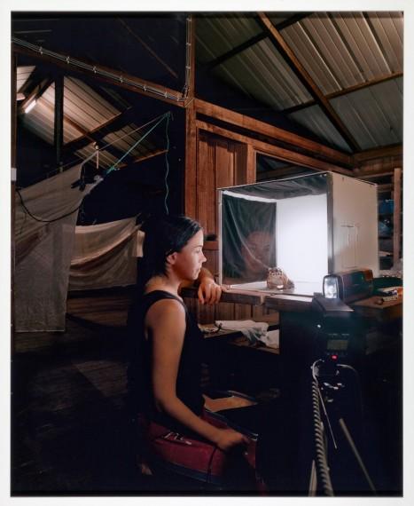 Sanna Kannisto, 'Untitled (Self-portrait)',2000. Inkjet print på aluminium. Kiasmas samlinger. Foto: Finnish National Gallery, Central Art Archives, Petri Virtanen