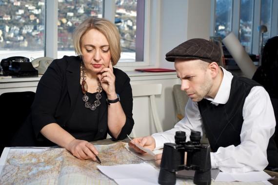 'Convenerne' Ekaterina Degot og David Riff. Foto: Thor Brødreskift.
