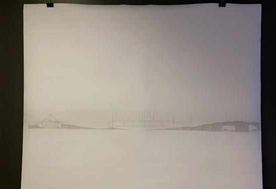 """Jan Gunnar Skjeldsøy, """"Shoyna Dissected - Chests Of Sand""""(2012) dokumentasjonstegninger."""
