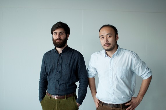 Tiago Bom og  Ayatgali Tuleubek, kuratorer for de Sentral-Asiatiske paviljong. Foto: Bureau N.