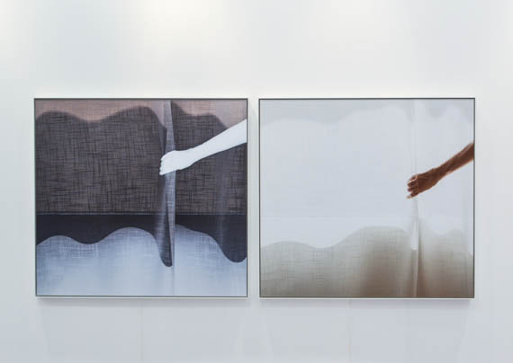 Uta Barth, 'Deep blue day (untitled 12.10)' & 'Deep blue day (untitled 12.7)', 2012. Andrehn-Schiptjenko, Stockholm.