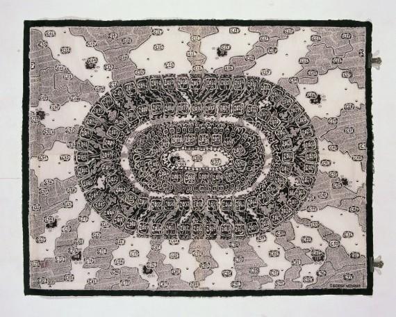 George Widener, 'Birthday map (weekends)', 2012. Galerie Susanne Zander, Köln © George Widener. Foto: Bernhard Schaub