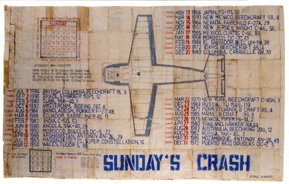 George Widener, 'Sunday´s Crash', undated. Sammlung abcd, Paris © George Widener