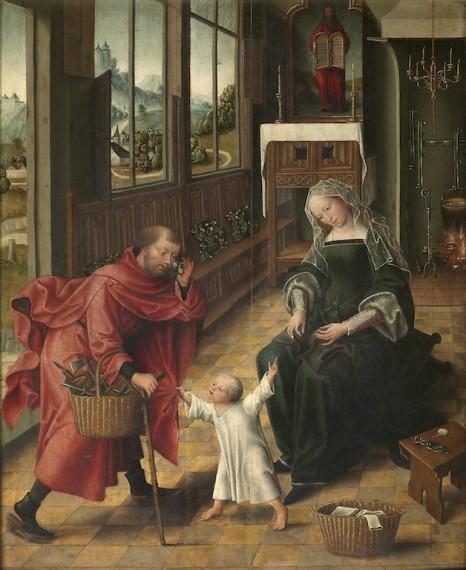 1.Mesteren for Magdalena-legenden, ´Den hellige familie´, 1500-tallet, olje på treplate. © Koninklijk Museum voor Schone Kunsten, Antwerpen
