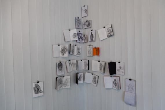 Serhed Waledkhani 'Skissebøker' tusj og blyant (2009-2012).