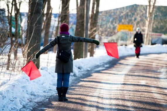 1.Semaphore Flag Signaling in Herttoniemi, Helsinki. Photo: Veikko Somerpuro