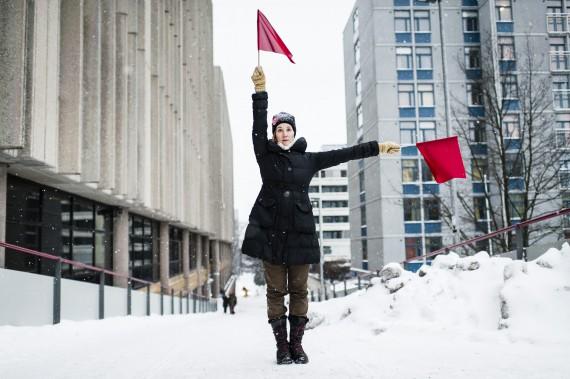 4.Semaphore Flag Signaling in Pasila, Helsinki. Photo: Veikko Somerpuro