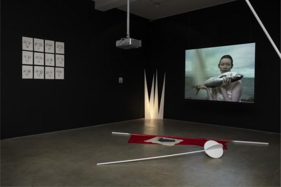 Joan Jonas, ´Volcano Saga´, 1986/2011. Installasjonsfoto.
