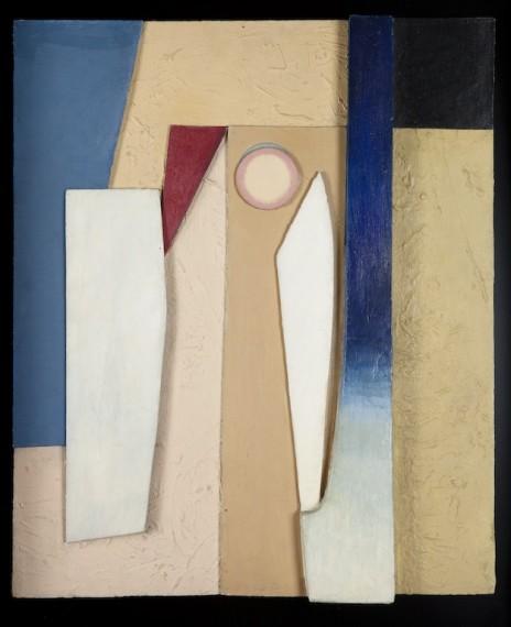 Kurt Schwitters: Pariser Frühling, 1936, collage, olje og tre på plate, 60,1x49,6cm. ©Sparebankstiftelsen DNB