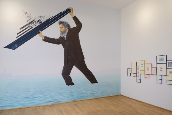 Jeremy Deller, 'We Sit Starving Amidst our Gold', installation view. Courtesy British Council. Photo: Cristiano Corte.