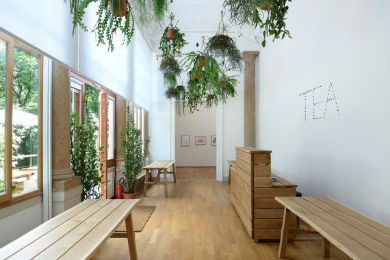 The tea room in the British Pavilion. Courtesy British Council. Photo: Cristiano Corte.