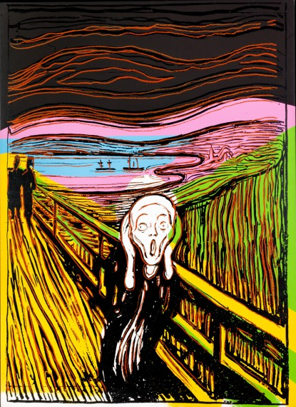Andy Warhol, The Scream (After Munch), (1984) ©Haugar Vestfold kunstmuseum