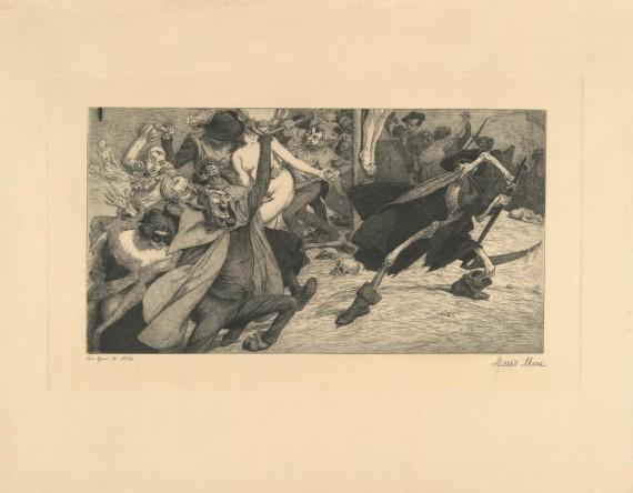 Louis Moue, 'Syndernes dødsdans', 1903.