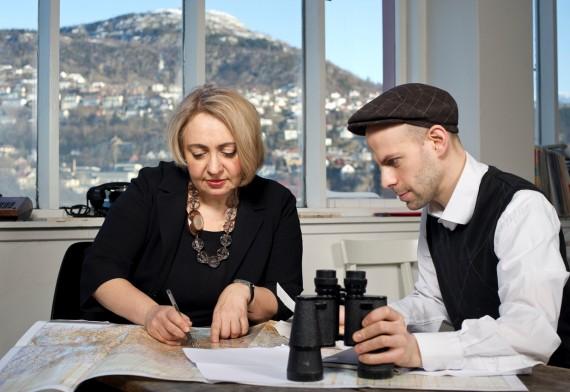 'Convenerne' bak Bergen Assembly: Ekaterina Degot og David Riff. Foto: THor Brødreskift