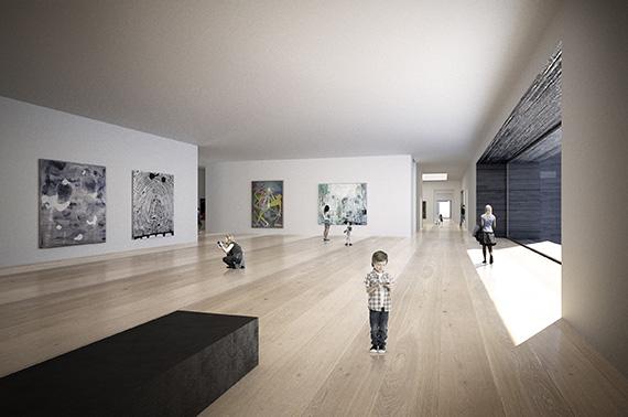 Det nye Nasjonalmuseet på Vestbanen - Sal for samtidskunst. Fotograf/kilde   Statsbygg / Kleihues + Schuwerk