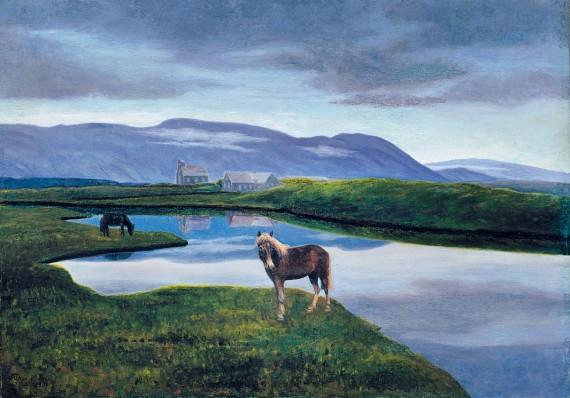 Thórarinn B. Thorláksson, Thingvellir, 1900. Listasafn Íslands ©Listasafn Íslands/National Gallery of Iceland