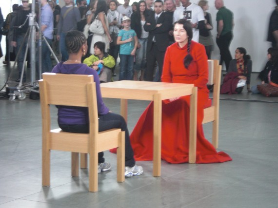 Performance artist Marina Abramovic at the Museum of Modern Art in New York City, April 2010. Photo: https://commons.wikimedia.org