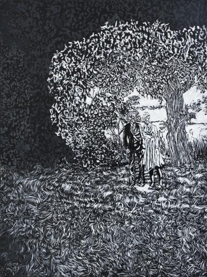 Viktor Rosdahl: The Wedding, oil on canvas, 80x60cm, 2013