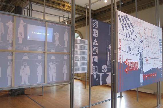 Andreas Siekmann & Alice Creischer, In the Stomach of the Predator, 2012-201. Installation view. Photo: Monica Holmen