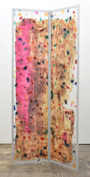 """Ethan Greenbaum:  Weep Space (2013), Direct to substrate print on acrylic panels in folding aluminum frame, 96"""" x 48"""". Courtesy of the artist and Michael Jon Gallery, Miami"""