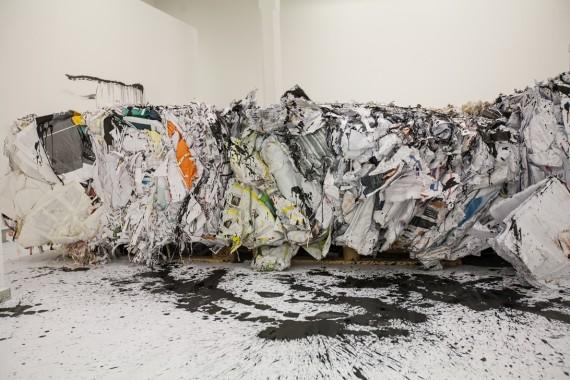 Anastasia Ax, Paper Island, 2013. ©Bomuldsfabriken Kunsthall