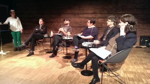 I panelet: Frans Jacobi, Kjetil Røed, Anne Szefer Karlsen, Øystein Hauge, Evelyn Holm