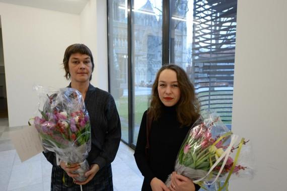 Prisvinnerne Lene Berg og Marianne Heier. Foto: Marius Meli / Trondheim kunstmuseum