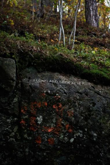 Jenny Holzer, Stone Carving, 2013. Foto: Iver Kvaal / Ekebergparken