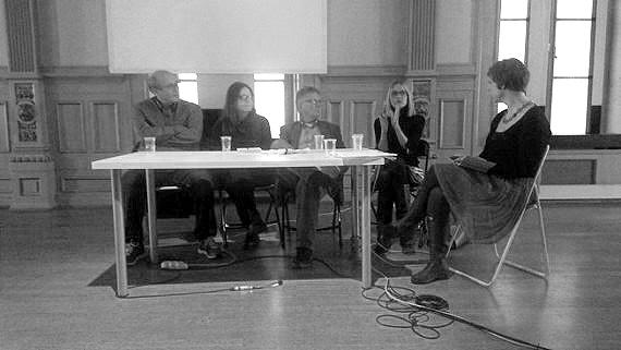 Fra venstre: Knut Jøsok, Annette Kierulf, Dag Solhjell, Karin Hindsbo og Sigrun Åsebø. Foto: Anna Borcherding