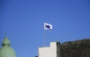 Flagg av Magnhild Øen Nordahl. Foto: Randi Grov Berger.