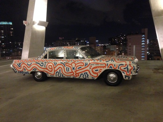 Keith Haring's painted Buick at opening of Piston Head: Artists Engage the Automobile (hosted by Ferrari & Venus Over Manhattan, New York) Image courtesy of the author