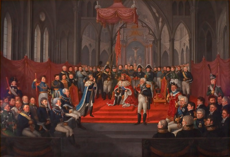 Jacob Munch: Carl XIV Johans kroning i Trondheim Domkirke 7. september 1818, 1822. De kongelige samlinger. Foto: Jan Haug / Det kongelige hoff, Oslo ©Det kongelige hoff 2014