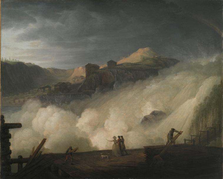 Erik Pauelsen: Sarpsfossen, (1789). Statens Museum for Kunst. Foto: Statens Museum for Kunst.