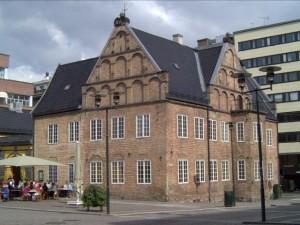 Universitetsbiblioteket holdt til i Rådmannsgården på Christiania Torv fra 1816 til 1851