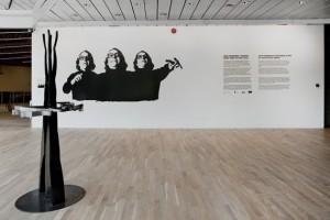 Arne Nordheim i kunsten, installasjonsfoto. Foto: Øystein Thorvaldsen