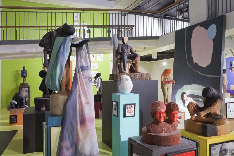 Sverre Bjertnes, Nervous Fluids, installsjonsfoto Stenersenmuseet. Foto: Øystein Thorvaldsen.