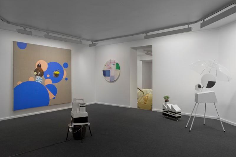 Sara Christensen, Verden har fire hjørner, installasjonsfoto. Gjengitt med tillatelse fra Galleri K.