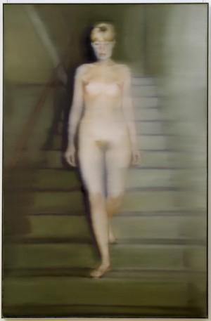 Gerhard Richter, Ema, Akt auf einer Treppe (Ema, Nude on a Staircase), 1966. Oil on canvas, 200 x 130 cm. Museum Ludwig (ML 01116, Cologne). Photo: © Rheinisches Bildarchiv Köln, rba_d000275.