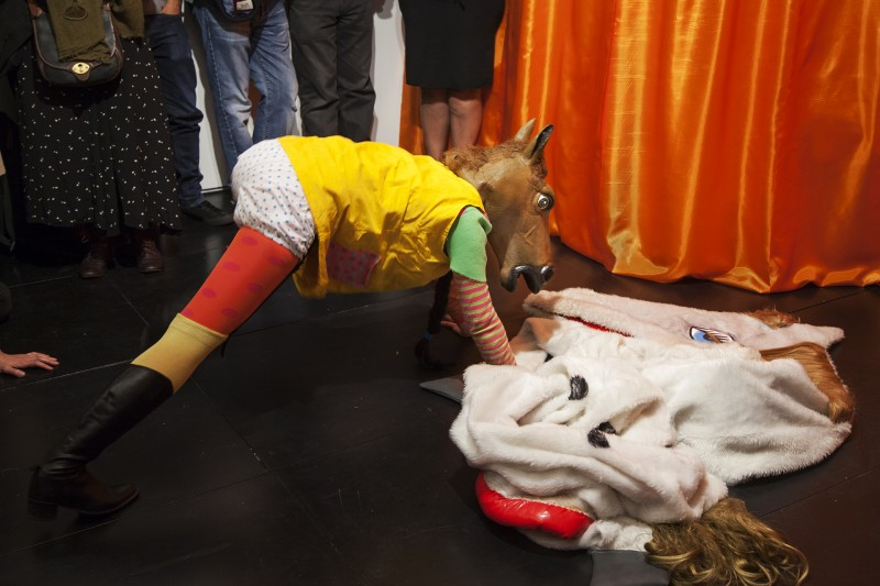 Anja Carr: Horseplay (2014) performed at the Agency Gallery 23 May. Courtesy of the artist and the Agency, London. Photo: Ekphrasis