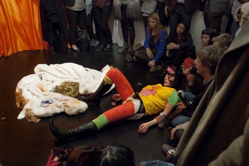 Anja Carr: Horseplay (2014) performed at the Agency Gallery 23 May. Courtesy of the artist and the Agency, London.