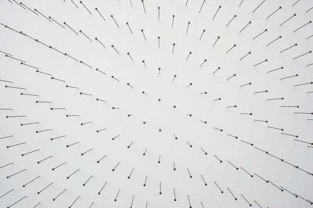"""Tone Vigeland, """"Muster I"""", Fra Tone Vigelands Festspillutstilling 2014 """"Muster"""" i Bergen Kunsthall. Foto: Thor Brødreskift"""
