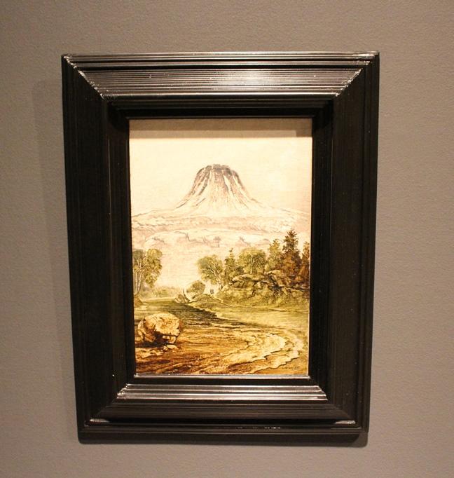Peder Balke, Fjell (Gausta) (1860-årene), olje på papir oppklebet på papp-plate, 33x23 cm, privat eie