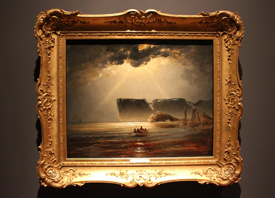 Fra Nordkapp (ca 1845), Olje på papp-plate, 67,5x84 cm, Nasjonalmuseet for kunst, arkitektur og design