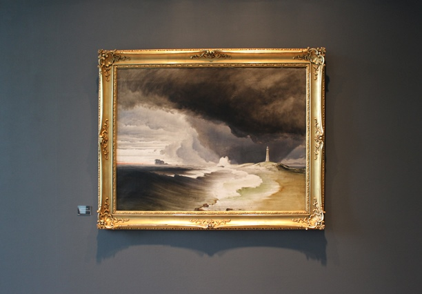 Fyr på den norske kyst (1850-årene), olje på lerret, 95x125 cm, Trondheim Kunstmuseum