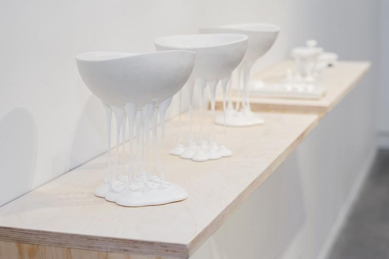 Christina Schou Christensen, porselen og glasur. Foto: Stina Glømmi