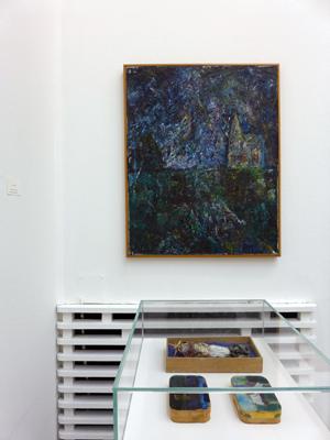 Jens Johannessen, Profiler, 1968, olje på lerret, 200 x 120 cm, privat samling. Foto: Anita W. Lande