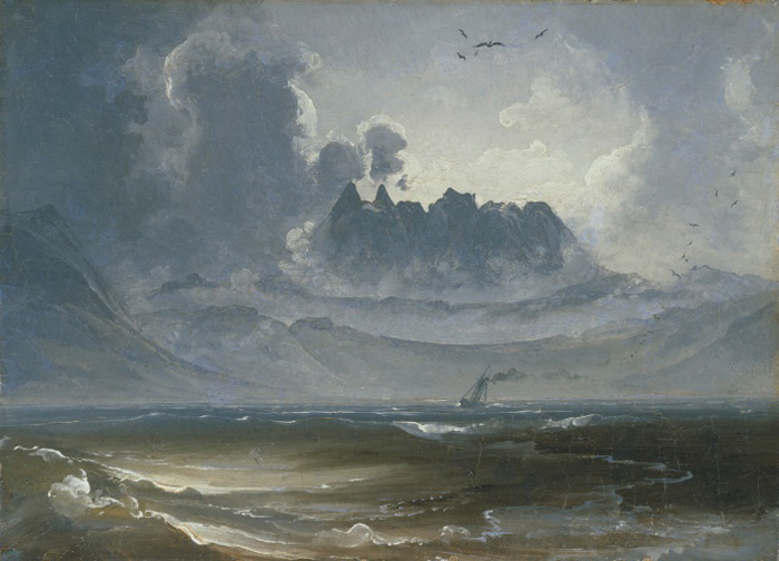 Peder Balke, The Trolltindene Range, about 1845. Collection of Asbjørn Lunde