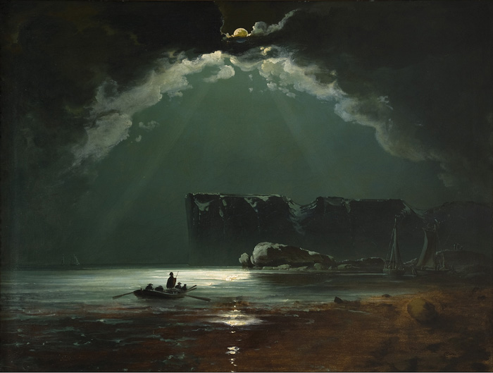 Peder Balke, North Cape probably, 1840s. Private collection, Photo Thomas Widerberg, Oslo